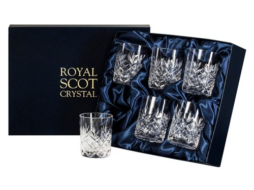 Set of 6 Royal Scot Crystal Edinburgh Whisky Tumblers
