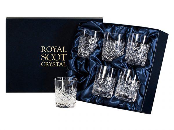 Set of 6 Royal Scot Crystal Edinburgh Whisky Tumblers