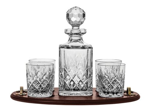 Royal Scot Crystal Edinburgh Club Decanter, Tumbler & Tray Set