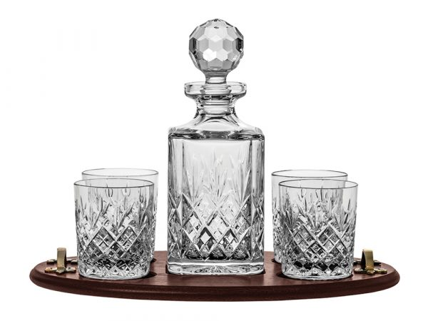 Royal Scot Crystal Edinburgh Club Decanter, Tumbler & Tray Set
