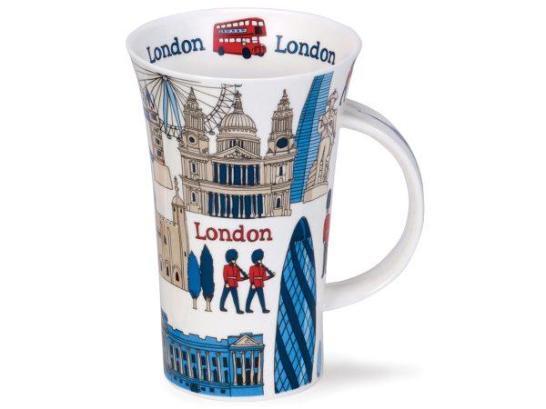 Dunoon Glencoe London Blue Mug