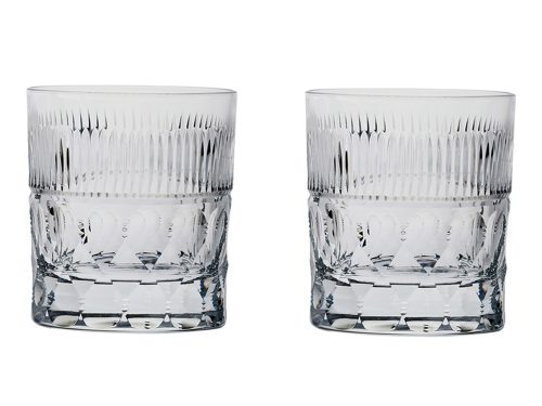 Large Royal Scot Crystal Oxford Prestige Whisky Tumblers
