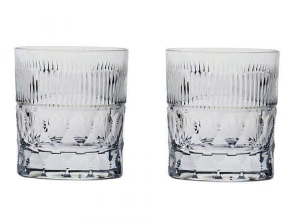 Large Royal Scot Crystal Oxford Prestige Whisky Tumblers