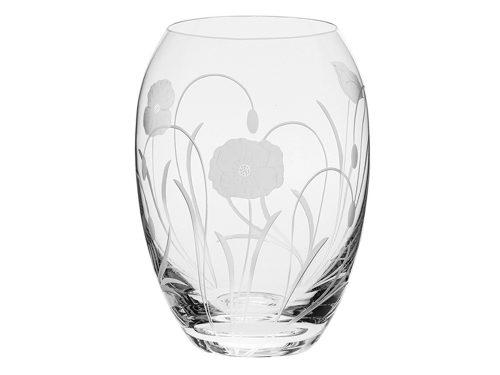 Medium Royal Scot Crystal Poppyfield Barrel Vase