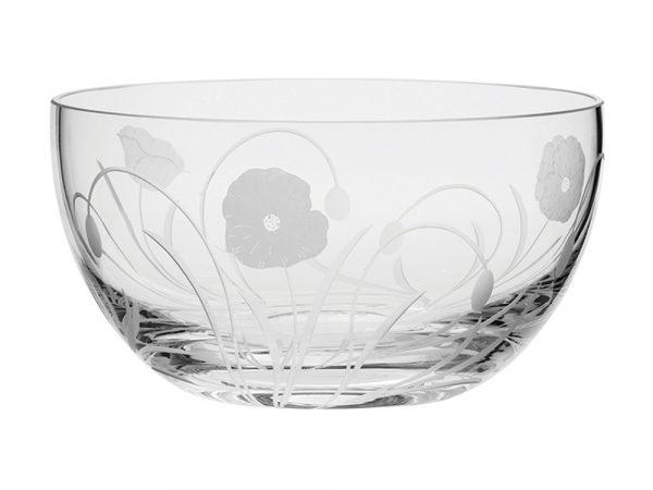 Royal Scot Crystal Poppyfield Fruit / Salad Bowl