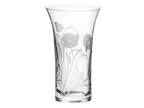 Flared Royal Scot Crystal Poppyfield Vase