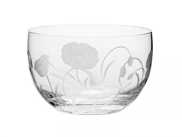 Small Royal Scot Crystal Poppyfield Bowl