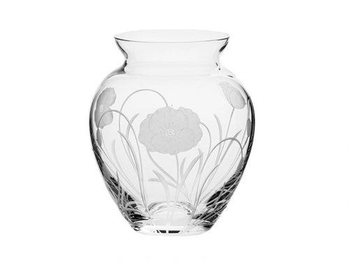 Small Royal Scot Crystal Poppyfield Posy Vase