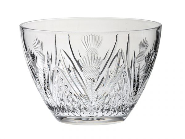 Royal Scot Prestige Crystal Scottish Thistle Deep Bowl