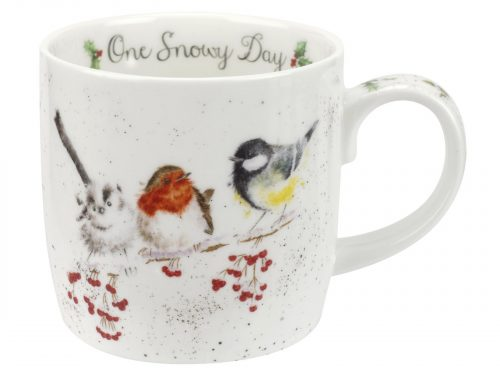 One Snowy Day Wrendale Christmas Mug