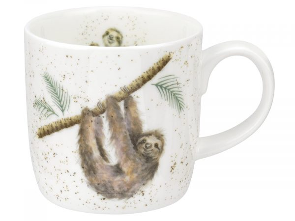 Hanging Around Sloth Wrendale Mug