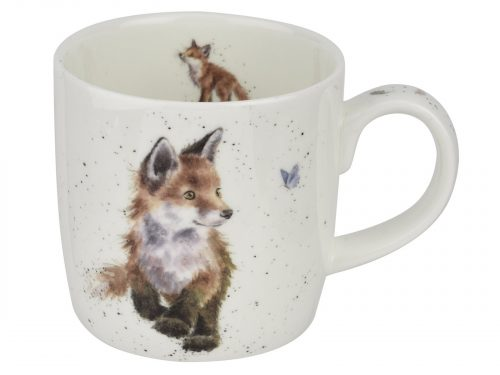 Baby Fox and Butterfly Wrendale Mug