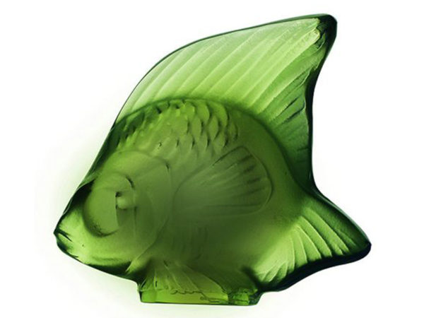 Lalique Fish Seal - Antinea Green
