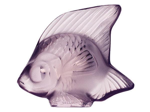 Lalique Fish Seal - Lilac