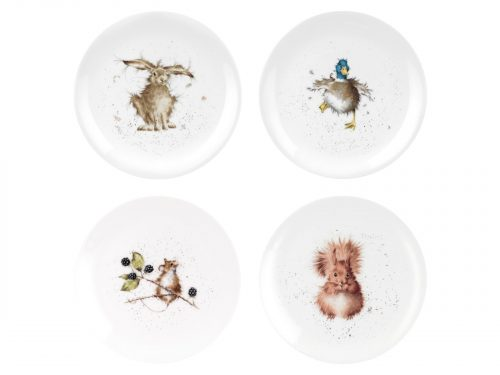 Royal Worcester Wrendale Assorted Plates - Set of 4