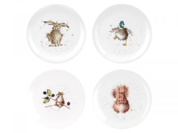 Royal Worcester Wrendale Assorted Plates - Set of 4