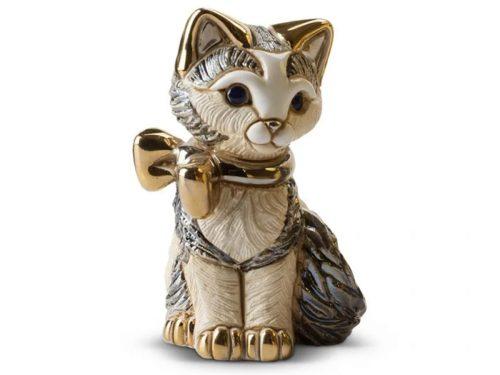 De Rosa Porcelain of a Kitten with a Ribbon