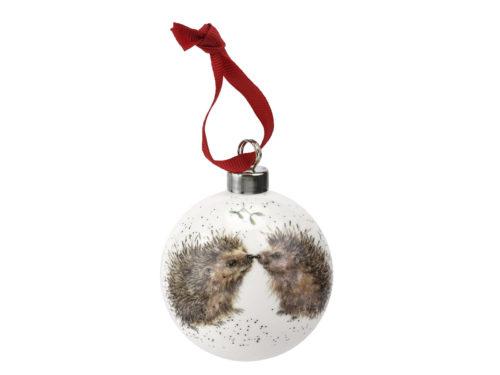 Royal Worcester Wrendale Christmas Hedgehog Bauble