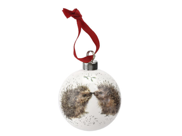 Royal Worcester Wrendale Christmas Hedgehog Bauble
