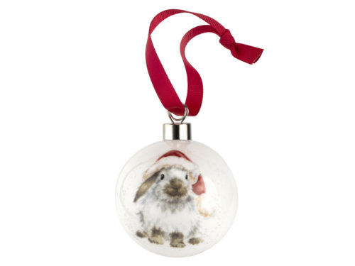 Royal Worcester Wrendale Christmas Rabbit Bauble