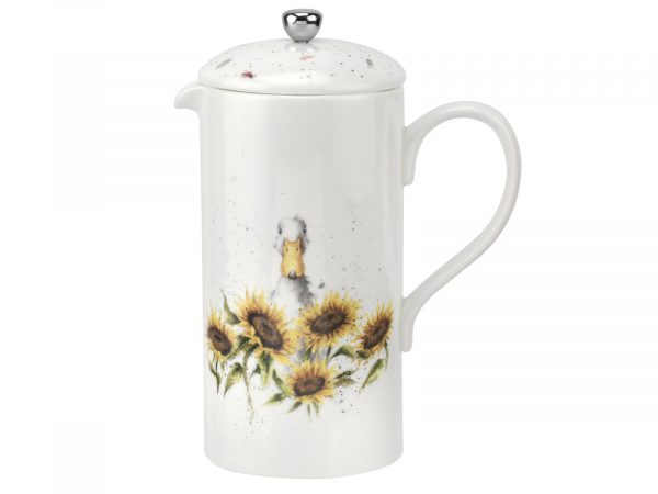 Royal Worcester Wrendale Cafetiere - Duck in Sunflowers