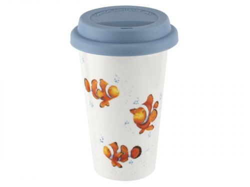 Royal Worcester Wrendale Clown Fish Travel Mug