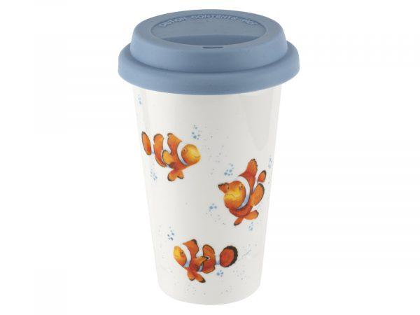 Royal Worcester Wrendale Clown Fish Travel Mug