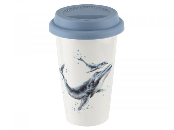 Royal Worcester Wrendale Blue Whale Travel Mug