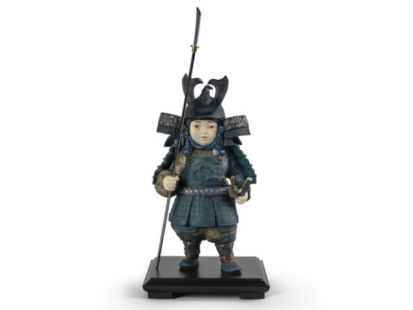 Lladro Porcelain Warrior Boy in Blue