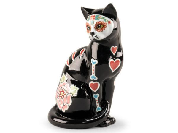 La Catrina Cat Lladro Porcelain