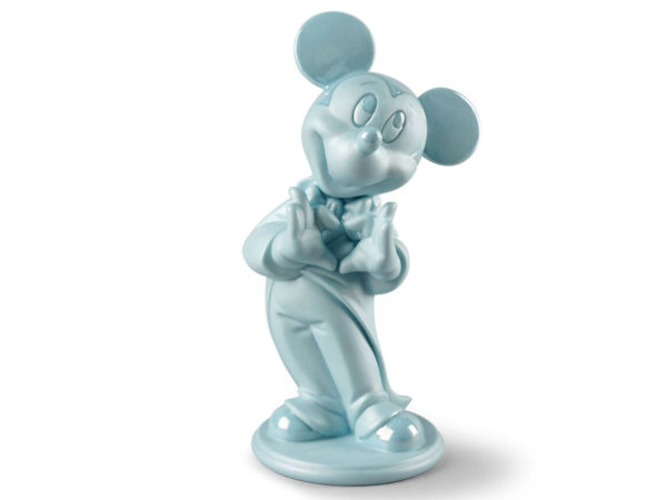 Lladro Blue Porcelain Mickey Mouse