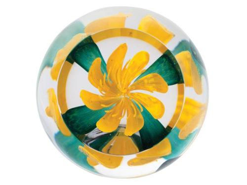 Caithness Glass Woodland Walk Celandine Paperweight
