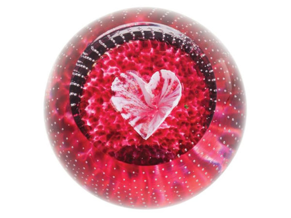 Caithness Glass Forever in your heart Paperweight