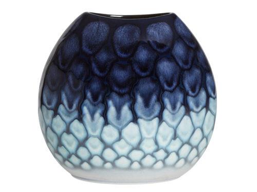 Poole Pottery 20cm Ocean Purse Vase
