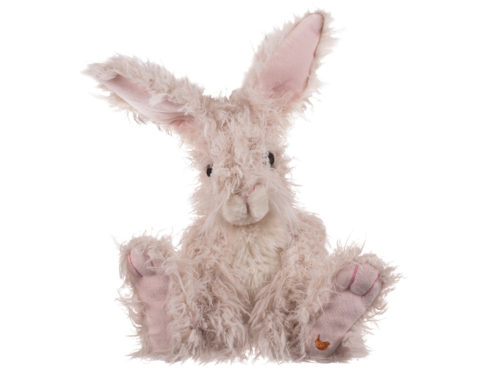 Wrendale designs scraggly plush toy of Rowan the Hare