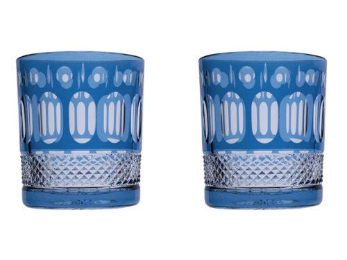 Royal Scot Crystal Belgravia Sky Blue Tumblers