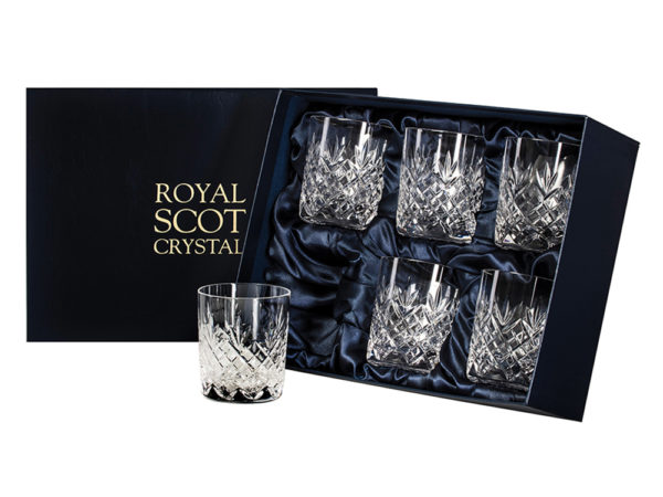 Royal Scot Crystal Large Whisky Tumblers - Set of 6