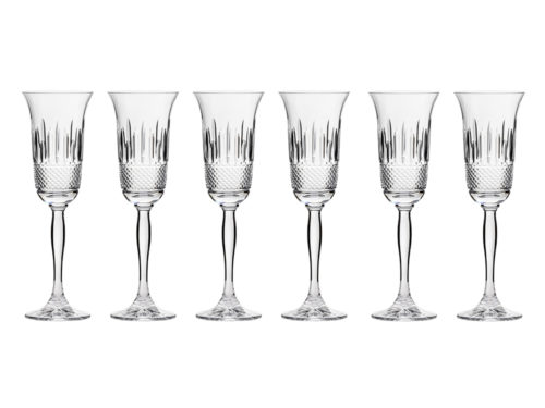 Royal Scot Crystal Eternity Champagne Flutes - Six