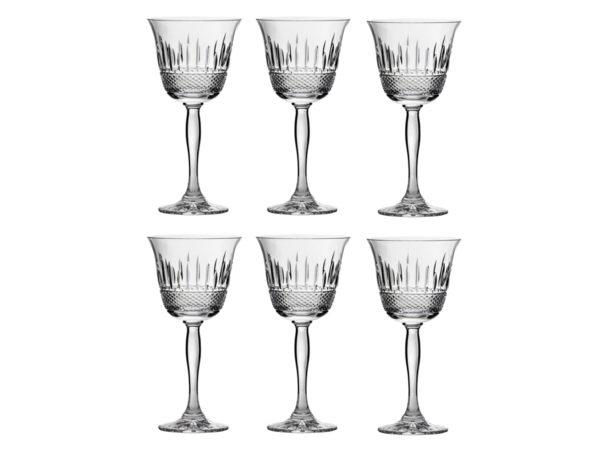 Royal Scot Crystal Eternity Wine glasses - Six