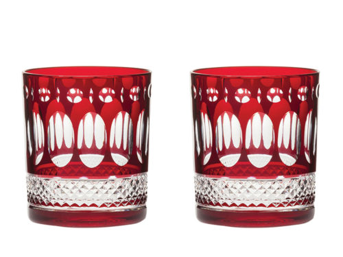 Royal Scot Crystal Belgravia Ruby Red Tumblers