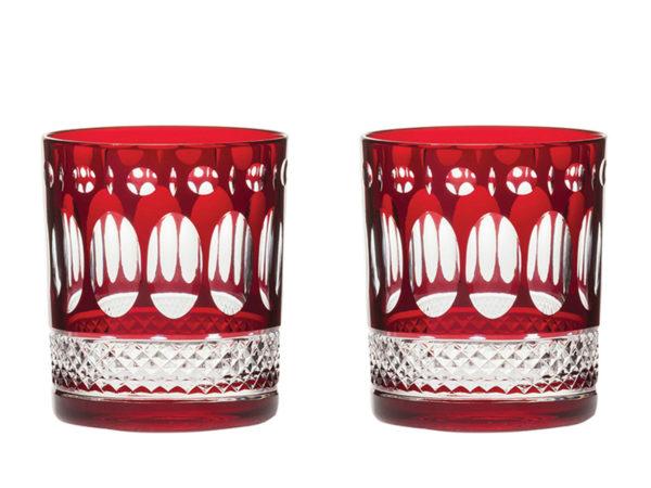 Royal Scot Crystal Belgravia Ruby Red Tumblers