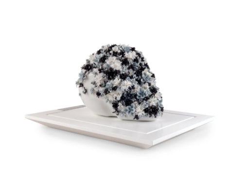 Life is flower lladro floral skull sculpture