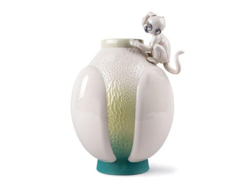 Lladro monkey vase