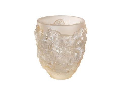 lalique gold luster crystal vase
