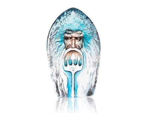 Malaras crystal ornament of the Greek God Poiseidon with his Trident.