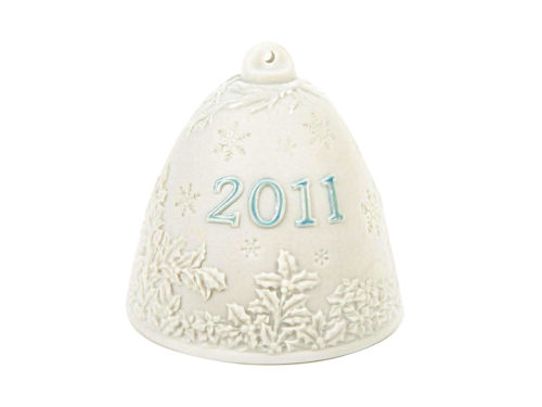 lladro christmas collectible 2011 bauble in white and blue