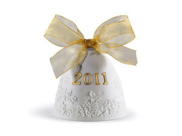 lladro christmas collectible 2011 bauble in white and gold