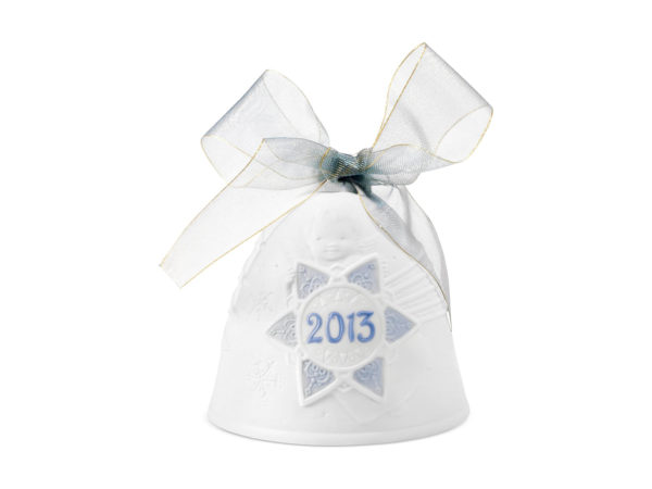 lladro christmas collectible 2013 bauble in white and blue