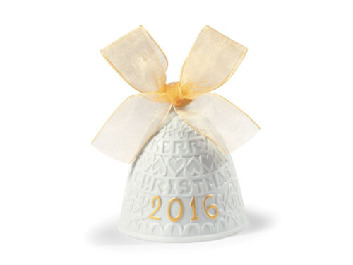 lladro christmas collectible 2016 bauble in white and gold